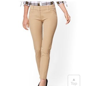 NY and Company Audrey slim ankle pant camel